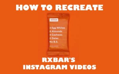 Recreate RXBARs stop motion animations with After Effects